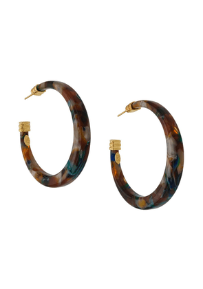 Gas Bijoux Caftan hoop earrings - Brown