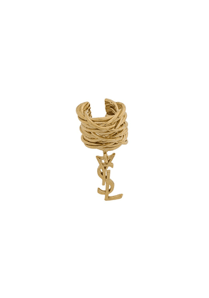 Saint Laurent Opyum Monogram earring - Gold