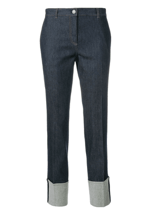 Bottega Veneta dark navy cotton pant - Blue