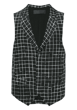 Haider Ackermann checked gilet - Black