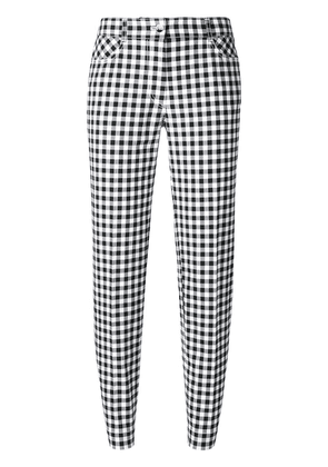 Blumarine checked slim-fit cropped trousers - Black