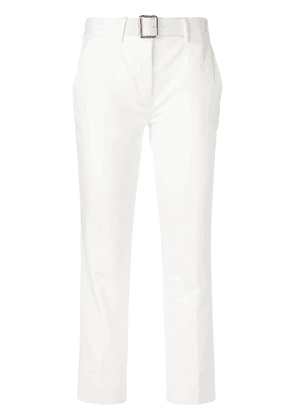 Moncler cropped belted trousers - White