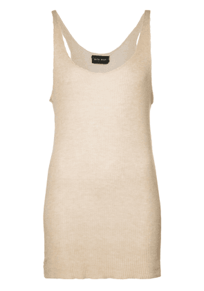 Baja East long knitted top - Neutrals