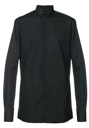 Haider Ackermann concealed button fastening shirt - Black