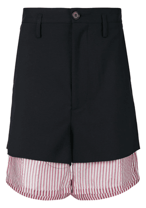 Marni oversized layered shorts - Blue