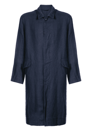 Casey Casey creased single breasted coat - Blue