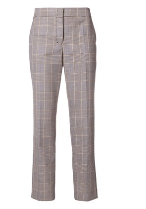 Dorothee Schumacher cropped plaid trousers - Black