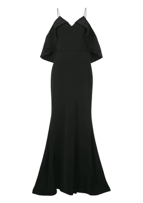 Christian Siriano cold shoulder gown - Black