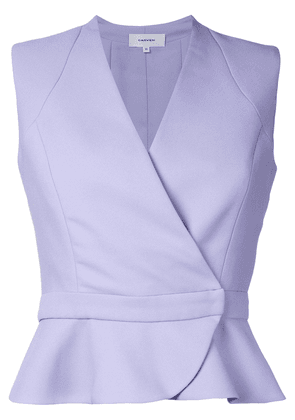 Carven wrap detail sleeveless shirt - Pink