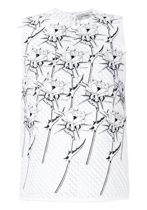Carven floral tank top - White