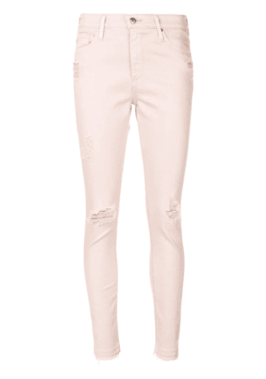 Ag Jeans ripped skinny jeans - Pink