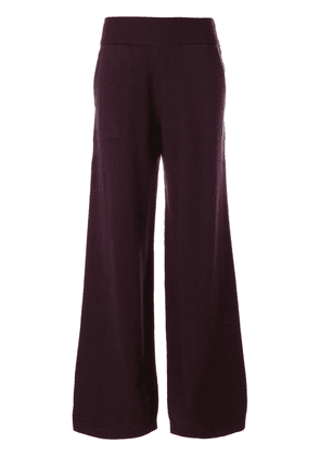 Barrie wide leg knitted trousers - Pink