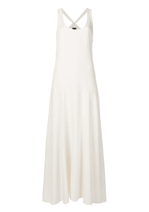 Theory scoop neck maxi dress - White
