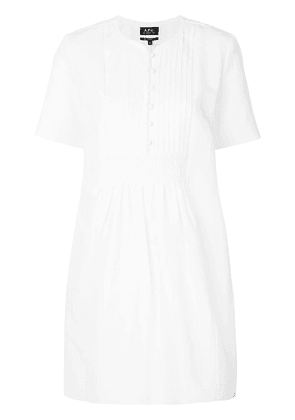A.P.C. peasant mini dress - White