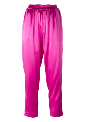 Gianluca Capannolo satin tapered trousers - Pink