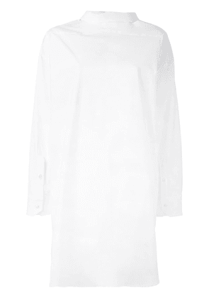 Erika Cavallini slit detail oversized top - White