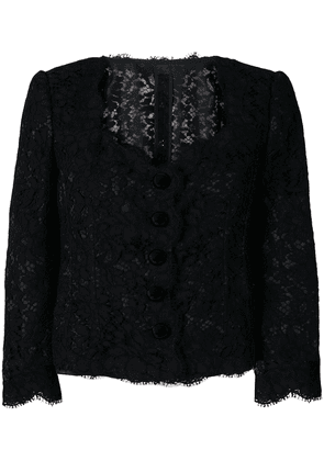Dolce & Gabbana lace fitted jacket - Black