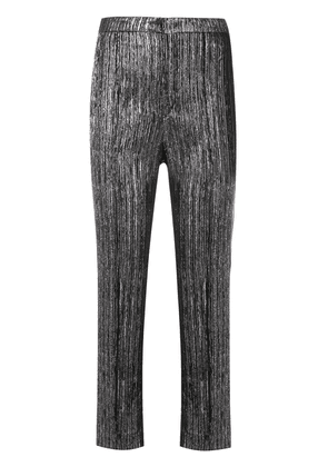 Isabel Marant metallic textured trousers - Black