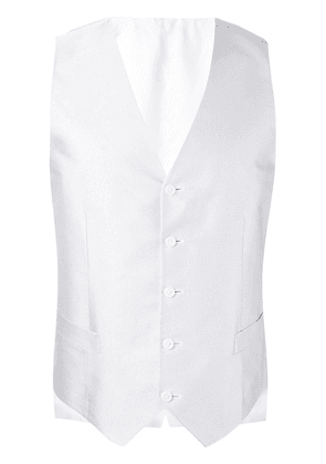 Canali button up waistcoat - Grey