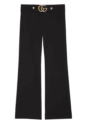 Gucci Stretch viscose pant with Double G - Black