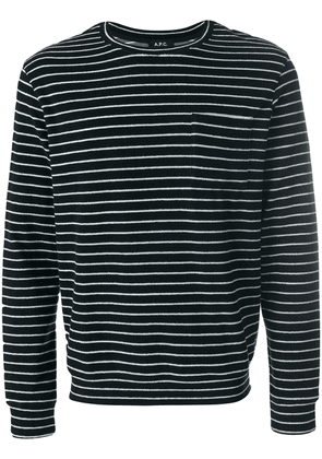 A.P.C. striped fitted top - Blue