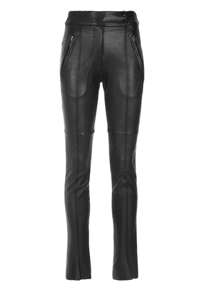 Gloria Coelho leather skinny pants - Black
