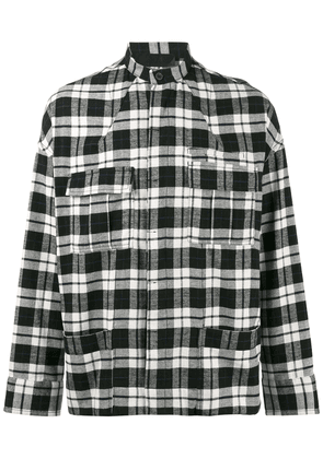Haider Ackermann Black Tartan Turner military overshirt
