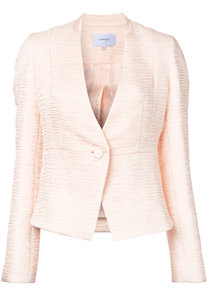 Carven textured fitted jacket - Pink