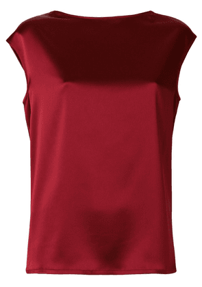 Gianluca Capannolo glossy sleeveless blouse - Red