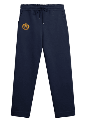 Burberry Embroidered logo jersey sweatpants - Blue