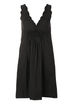 Isabel Marant embroidered V-neck dress - Black