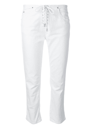 Isabel Marant cropped lace-up trousers - White