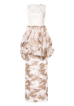 Christian Siriano fitted jacquard dress - Pink