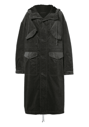 Haider Ackermann oversized long hooded coat - Green