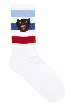 Gucci Stretch cotton socks with panther - White