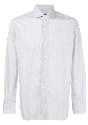 Barba embroidered fitted shirt - Blue