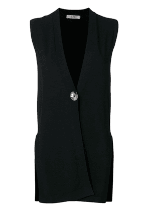 D.Exterior sleeveless fitted cardigan - Black