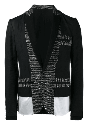 Haider Ackermann panelled blazer - Black