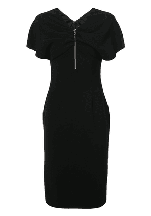Christian Siriano zip front fitted dress - Black
