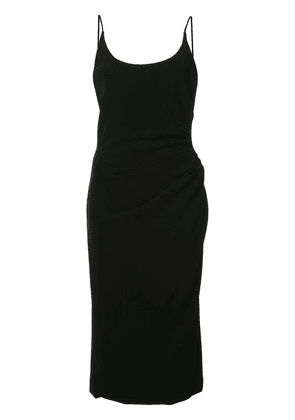 Christian Siriano ruched waist fitted dress - Black