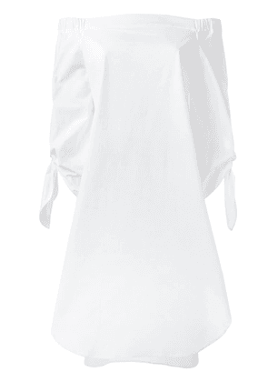 Erika Cavallini off-shoulders shift dress - White