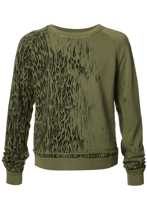 Haider Ackermann animal print sweatshirt - Green