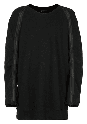 Ann Demeulemeester bird back embroidery sweatshirt - Black