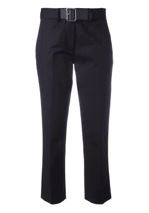 Moncler belted chino trousers - Blue