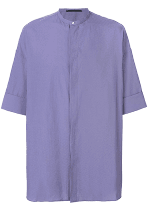 Haider Ackermann concealed front shirt - Purple