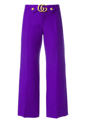 Gucci GG Marmont flares - Purple