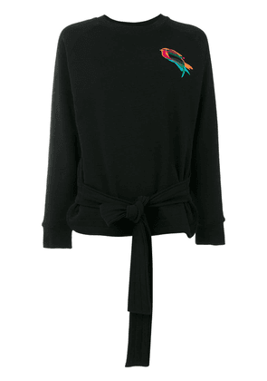 Ioana Ciolacu embroidered bird sweatshirt - Black