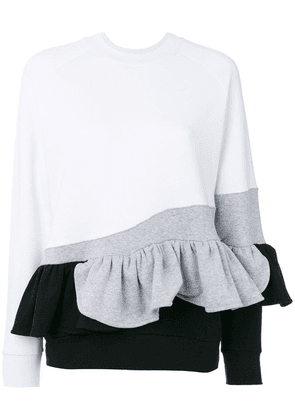 Ioana Ciolacu sweatshirt with ruffle detail - White
