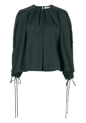 Carven pleated neck blouse - Green