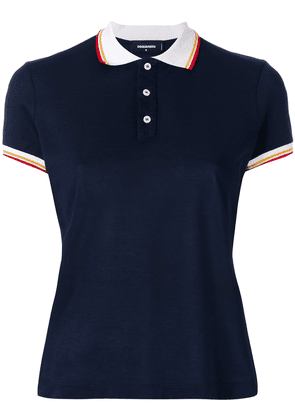 Dsquared2 contrast collar polo top - Blue